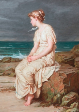 """Miranda"" 1875, one of Waterhouse's early works where his sister Jessie is thought to have modelled for him."