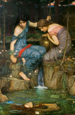 """Nymphs finding the head of Orpheus"", 1900, by John William Waterhouse."