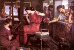 """""""Penelope and the Suitors"""", J.W. Waterhouse 1912."""