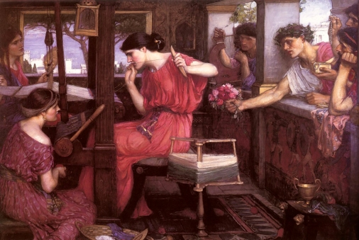 """Penelope and the Suitors"", J.W. Waterhouse 1912."