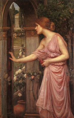 """Psyche Opening the Door into Cupid's Garden"" 1903, by John William Waterhouse. The model is believed to have been Gwendoline Gunn."