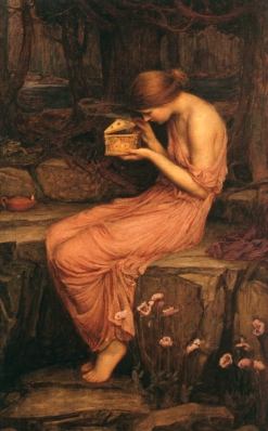"""Psyche Opening the Golden Box"",1903 by John William Waterhouse. The model is believed to have been Gwendoline Gunn."