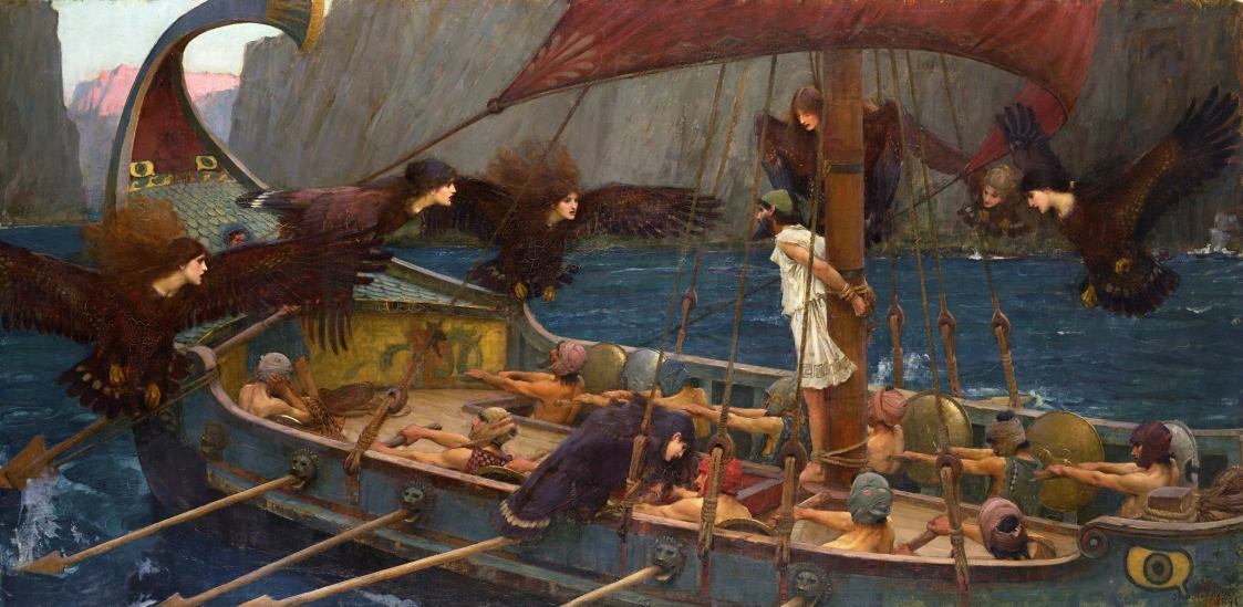 """Ulysses and the Sirens"", 1891, by John William Waterhouse."