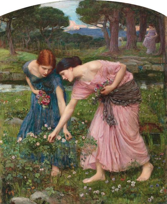 """Gather Ye Rosebuds While Ye May"",1909, J.W. Waterhouse."