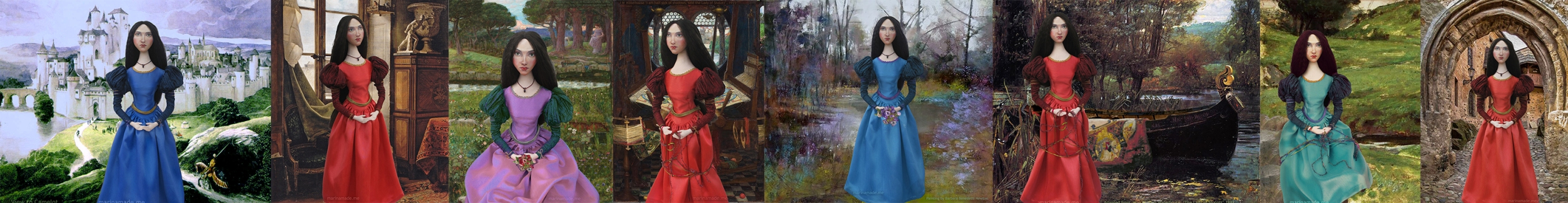 Muses of John William Waterhouse, interpreted by Marina Elphick for Marina's Muses.J.W.Waterhouse models and muses.
