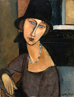 Jeanne Hébuterne 1917, Modigliani. Jeanne Hébuterne was Modigliani's muse and lover, dying tragically young at 21. Jeanne was a talented artist in her own right, yet her life was too short for her creativity to mature. marinamade.me.