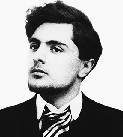 The young and handsome Amedeo Modigliani, date of photo unknown.