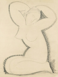 Cariatide, pencil drawing by 1911 Amedeo Modigliani.