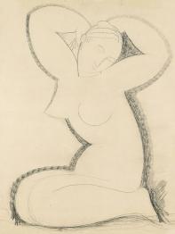 Cariatide, pencil drawing by 1911 Amedeo Modigliani.