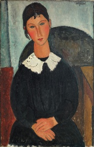 Amedeo Modigliani, Elvire with white collar 1917