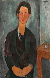 Portrait of his friend and fellow artist, Chaim Soutine, 1917, by Modigliani.