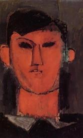 Portrait of Picasso, 1915, Amedeo Modigliani.