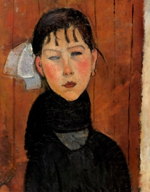 Marie, daughter of the people, 1918, by Amedeo Modigliani.