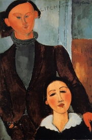 Jacques and Berthe Lipchitz 1916, a portrait by Modigliani.
