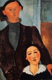 Jacques and Berthe Lipchitz 1916, a portrait by Modigliani.