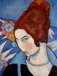 Jeanne Hébuterne was Modigliani's muse and lover, dying tragically young at 21. Jeanne was a talented artist in her own right, yet her life was too short for her creativity to mature.