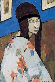 Jeanne Hébuterne, Self-portrait with hair band, c. 1918. Jeanne Hébuterne was Modigliani's muse and lover, dying tragically young at 21. Jeanne was a talented artist in her own right, yet her life was too short for her creativity to mature.