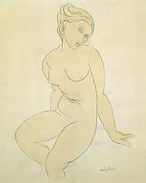 Life drawing sketch, Modigliani