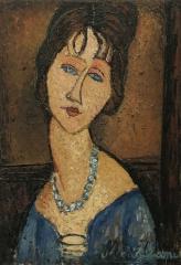 Modigliani's Portrait of Jeanne Hébuterne 1916- 17.