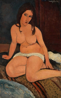 Seated Nude, 1917 by Amedeo Modigliani.