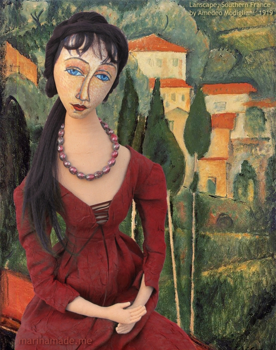 Jeanne Hébuterne was Modigliani's muse and lover, dying tragically young at 21. Jeanne was a talented artist in her own right, yet her life was too short for her creativity to mature. Muse made by Marina Elphick.