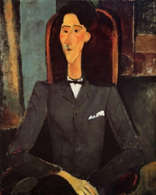 Portrait of Jean Cocteau, 1917 by Modigliani.