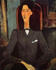 Portrait of Jean Cocteau, 1917 by Modigliani.