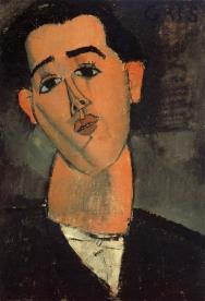 Portrait of Juan Gris, 1915, by Amedeo Modigliani.