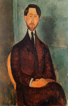 Portrait of Leopold Zborowski 1917, Modigliani.