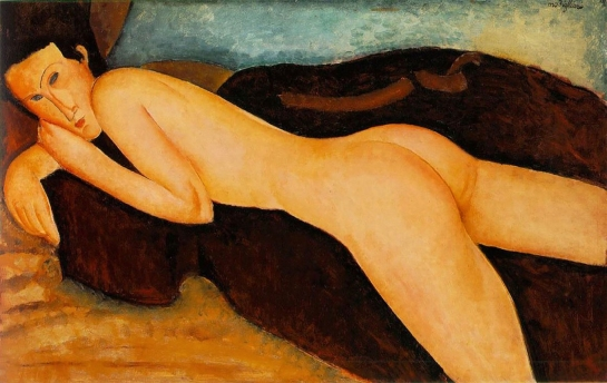 Reclining Nude from the Back by Amedeo Modigliani, 1917.