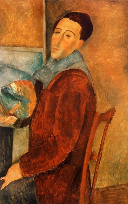 Amedeo Modigliani, Self Portrait, 1919, oil on canvas.