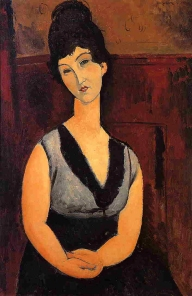The Beautiful Confectioner, 1916, Modigliani.