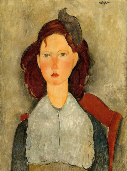 Young Girl seated, Modigliani 1918.