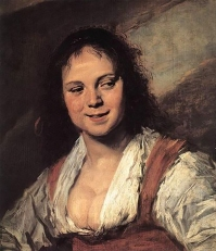 Frans Hals, Gypsy Girl. A tronie from the 'Dutch Golden Age'.