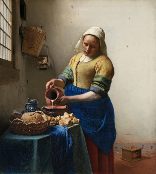 The Milkmaid by Johannes Vermeer, c 1658-1661.
