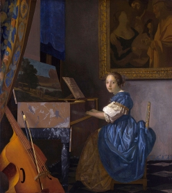 Lady Seated at a Virginal, by Johannes Vermeer, 1673-75.