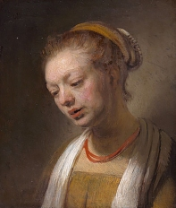 Rembrandt, Tronie of a young woman