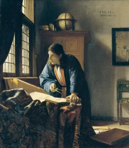 The Geographer, painted by Johannes Vermeer, 1669