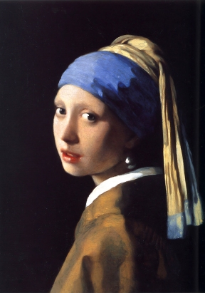 The Girl With The Pearl Earring, painted in oil by Johannes Vermeer 1665.