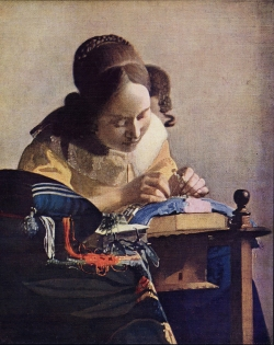 The Lacemaker by Vermeer 1669-70.