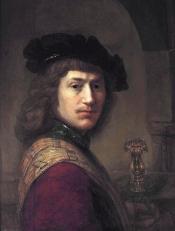 Tronie of a young man in a red jacket, by Leendert van Beijeren, 1629-40.