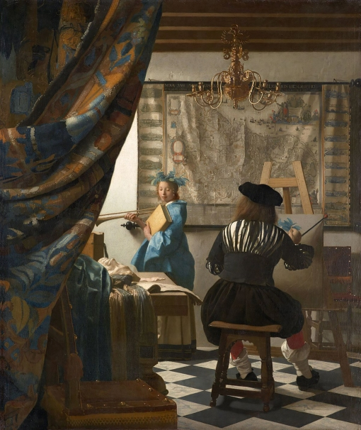 The Art of Painting or The Allegory of Painting by Johannes Vermeer c. 1666–68.
