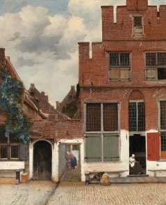 """""""View Of Houses In Delft"""" Painting by Johannes Vermeer, 1657-58."""