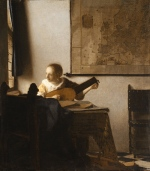 Woman with a Lute, by Johannes Vermeer