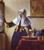 Young Woman with a Water Pitcher, Vermeer 1662.