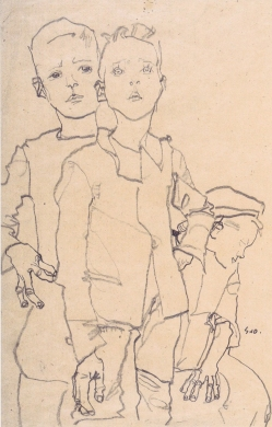 Three Street Urchins, Egon Schiele 1911.