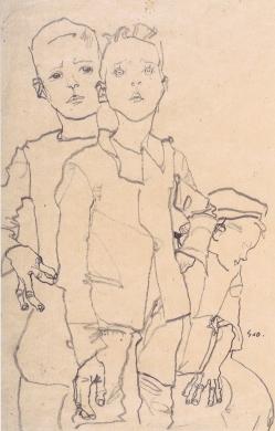 Three Street Urchins, Egon Schiele 1911.