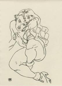 Egon Schiele, Crouching Woman, 1918.