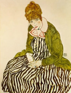 Edith Harms, soon to be Edith Schiele, painted by Egon Schiele in 1915.