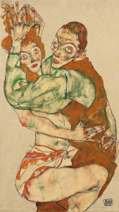 Egon Schiele 'Sexual' act 1915. I believe this woman to be Wally Neuzil.
